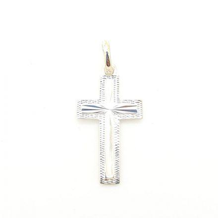 Croix argent ouvragée