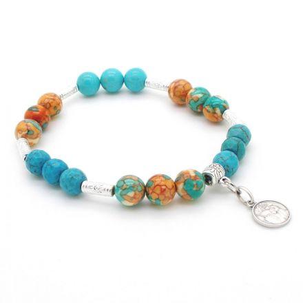 Bracelet Turquoises et Arc-en-Ciel