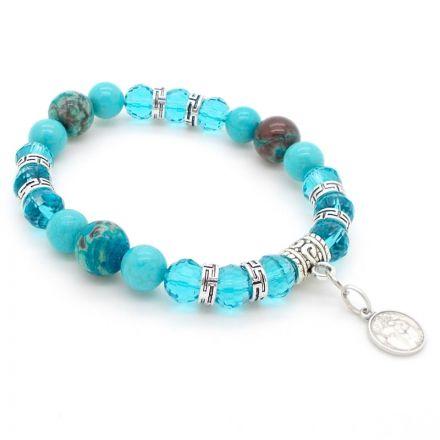 Bracelet Turquoises et Agates