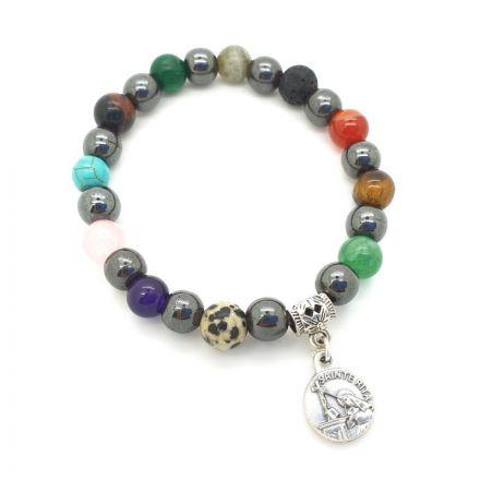 Bracelet hématite et pierres différentes