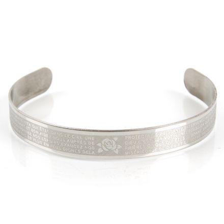 Bracelet acier Sainte Rita
