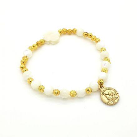 Bracelet dizainier avec croix nacrée