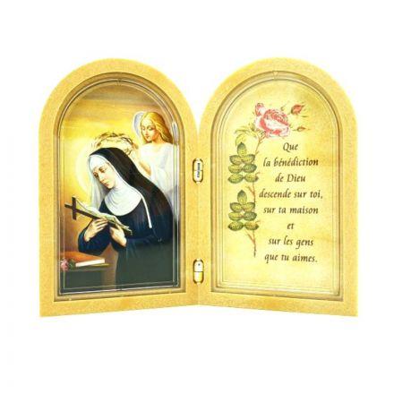 Cadre de Sainte Rita avec prière