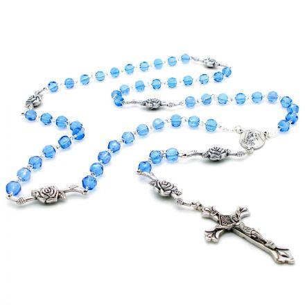 Chapelet en perles bleues