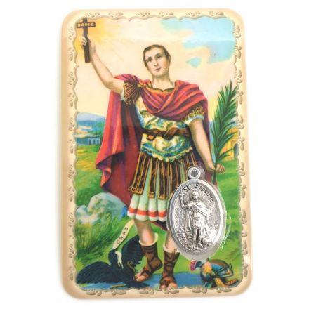 Carte avec médaille Saint Expédit