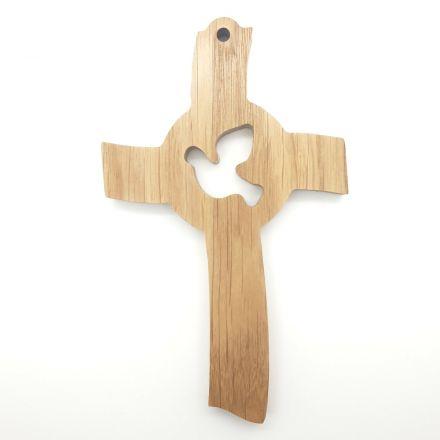 """Croix en chêne """"colombe"""""""