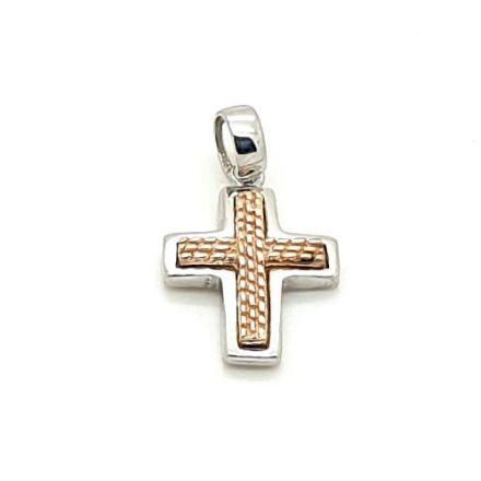 Croix argent bicolore