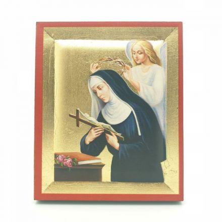 Icône dorée Sainte Rita