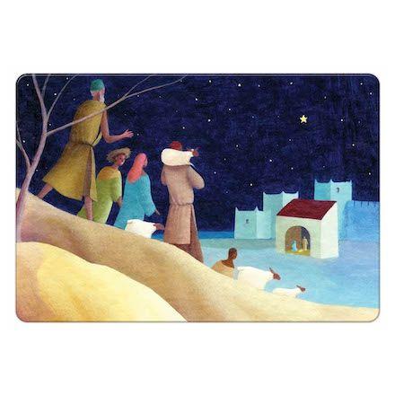 Magnet Noël - Les bergers