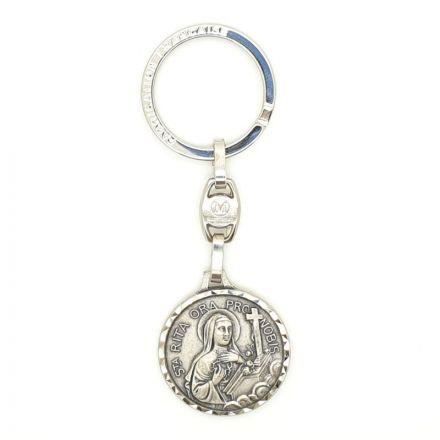 Porte-clés Sainte Rita et Saint Christophe