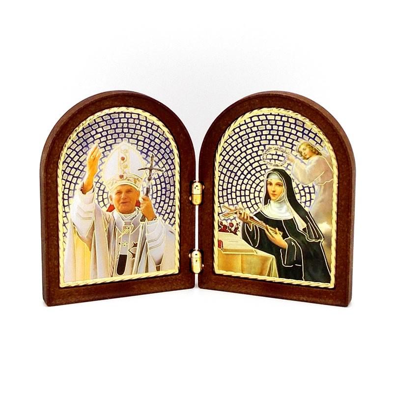 Cadre Jean-Paul II et Sainte Rita