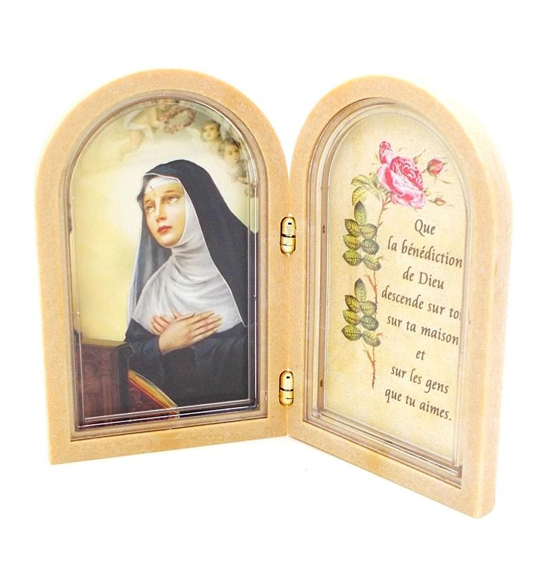 Assez Cadre de Sainte Rita avec prière - Oeuvres de Sainte Rita RL36