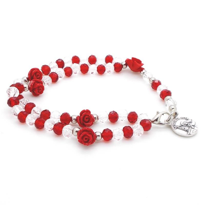 Chapelet-bracelet rouge