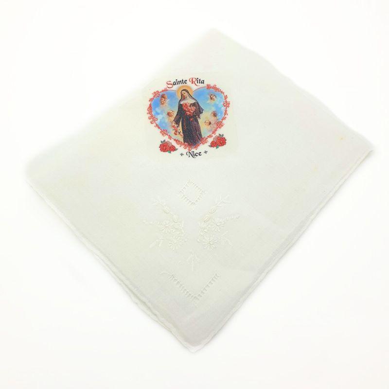 Mouchoir blanc Sainte Rita