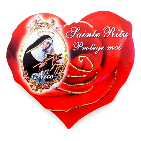Bien-aimé Magnet Sainte Rita - Oeuvres de Sainte Rita MI44