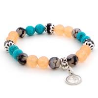 Bracelet orange et turquoise