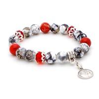 Bracelet rouge et gris