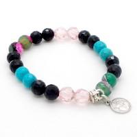 Bracelet Agates et Turquoises