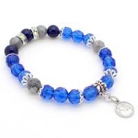 Bracelet Cristal, Lapis Lazuli et Jaspe