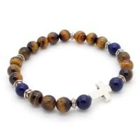 Bracelet homme Oeil-de-Tigre et Lapis Lazuli