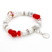 Bracelet Perles et Roses