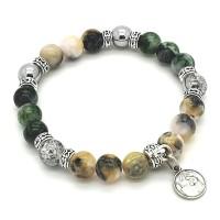 Bracelet Jade de Perse et Cristal