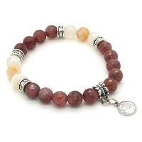Bracelet Quartz et Agate
