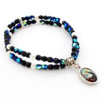 Bracelet double noir / argenté