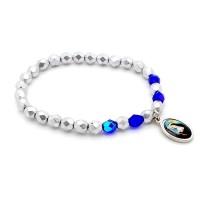 Bracelet argent et bleu
