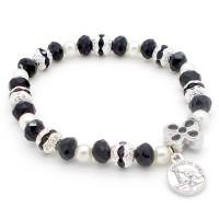 Bracelet noir avec croix