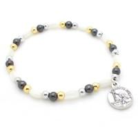 Bracelet dizainier blanc et noir