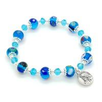 Bracelet bleu Murano