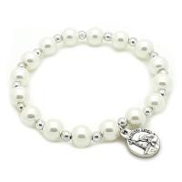 Bracelet perles nacrées