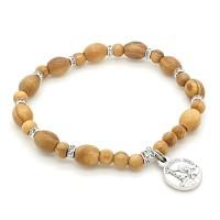 Bracelet dizainier bois et strass