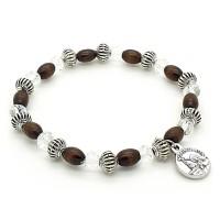 Bracelet dizainier bois et métal