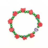 Bracelet avec roses rouges