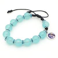 Bracelet réglable bleu