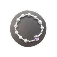 Bracelet perles argentées