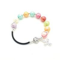 Bracelet perles multicolores Sainte Rita