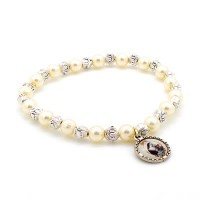 Bracelet blanc Sainte Rita