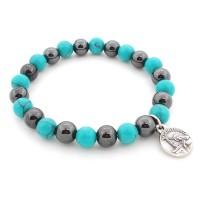 Bracelet hématite et turquoise
