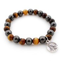 Bracelet hématite et œil de tigre