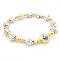 Bracelet Sainte Rita perles dorées