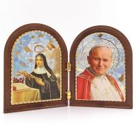 Cadre Sainte Rita et Jean-Paul II