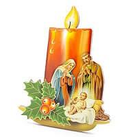 Cadre Nativité - bougie