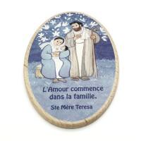 Cadre en bois Sainte Famille