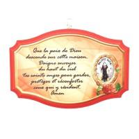 Cadre Sainte Rita avec prière
