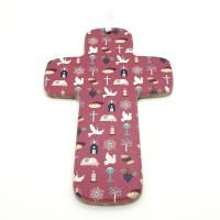 Croix en bois rose
