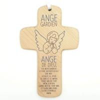Croix en bois Ange Gardien