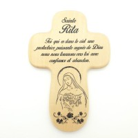 Croix en bois Sainte Rita
